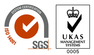 SGS ISO 14001 certification logo